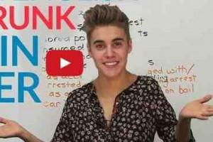 Apprendre l'anglais grâce aux frasques de Justin Bieber en état ivresse
