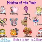 12 mois de l'année en anglais
