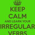 verbe irregulier anglais