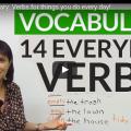 14 verbes action tout les jours
