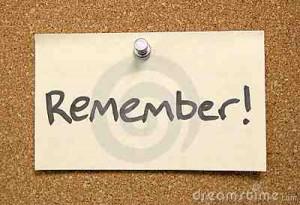 remember remind recall