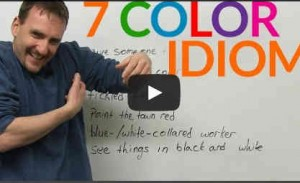 7 Expressions anglaises imagées ou idiomatiques sur les couleurs – Video anglais