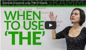 Quand utiliser l'article «THE» en anglais – 8 règles