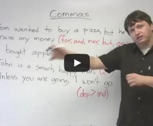 La virgule en anglais et en vidéo – Ponctuation
